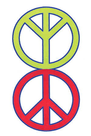 Connecting The Well Known Peace Symbol With Its Equal Opposite